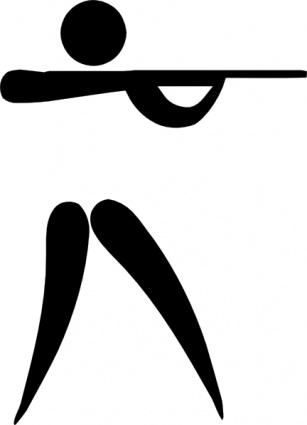 Olympic Sports Shooting Pictogram
