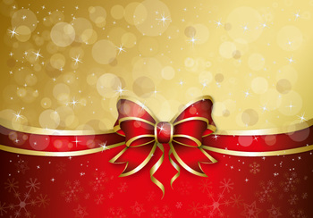 Christmas Gift Ribbon Vector Background For Greeting Card Designs