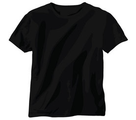 Free Tshirt Vector: Black Shirt Template