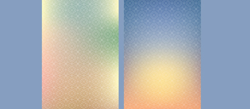 3 Circle Pattern Gradient Mobile Backgrounds
