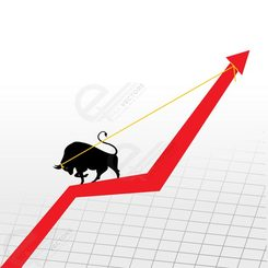 Bull up market graph arrow
