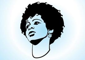 Girl With Afro Hair