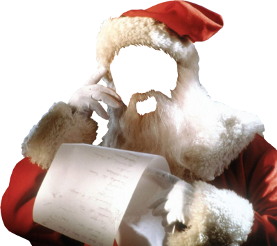 Faceless Santa With List PSD