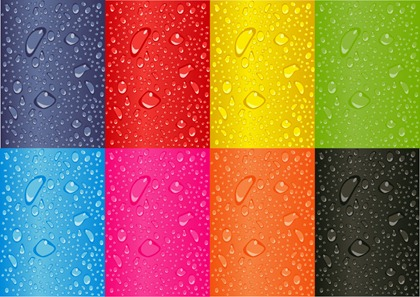 Colored Water Droplets