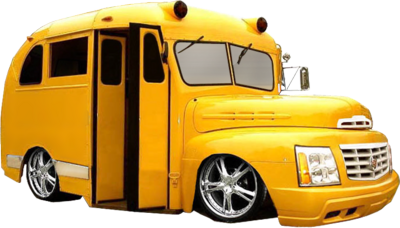 Bus With Rims PSD