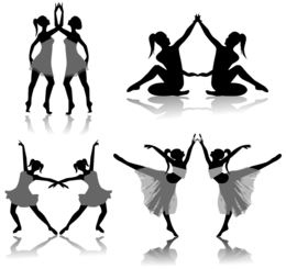 Free Ballet Dancers Silhouettes