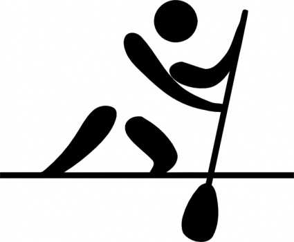 Olympic Sports Canoeing Flatwater Pictogram