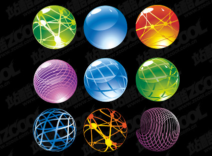 Round crystal ball icon