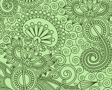 Seamless Floral Background Green