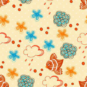 Free Vector Seamless Floral Pattern