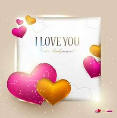 Exquisite Valentine's Day greeting card vector-3