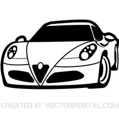 RACING CAR CLIP ART VECTOR.eps