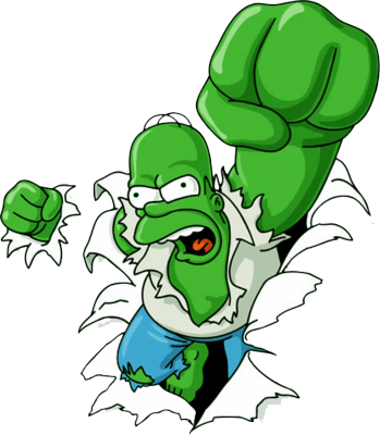 Incredible homer simpson HULK PSD