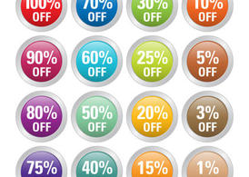 Percent Off Badge Vectors