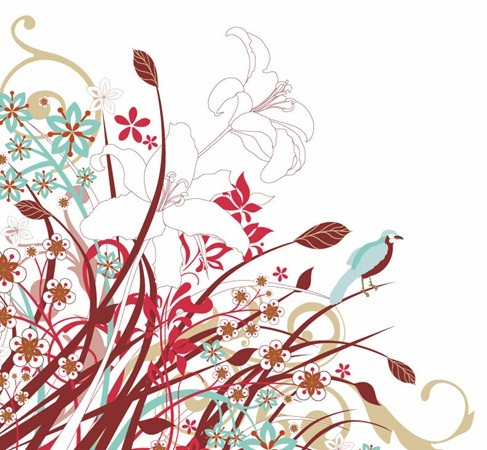 Abstract Floral Flowers