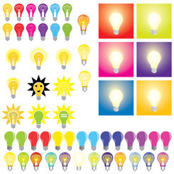 Free Vector Set: Light Bulbs