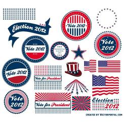 PRESIDENTIAL ELECTION VECTOR STICKERS.eps