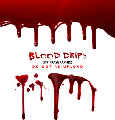 Blood Drips PSD