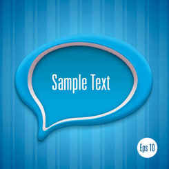Detailed talk bubble template vector Pack