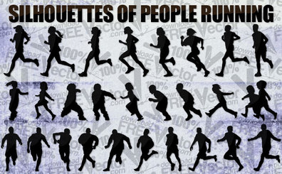 25 Running people