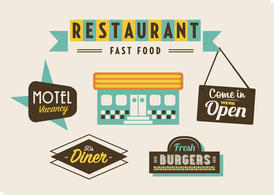 50s Diner, Motel, and Fast Food Pack