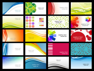 Variety Of Dynamic Flow Line Of Business Card Templates 02- Ve Dynamic Flow Of Lines Silhouette Circle