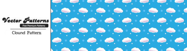 Cloud Seamless Photoshop and Vector Pattern