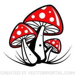 POISONOUS MUSHROOM VECTOR GRAPHICS.eps