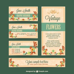 Visual identity set flowers design