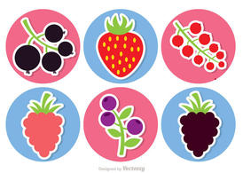 Sticker Berries Vector Pack
