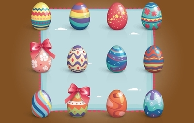 Colorful Easter Egg Pack