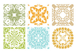 Floral Patterns Vector Set
