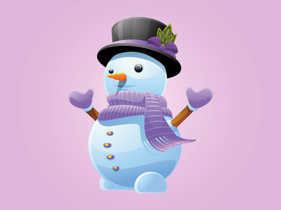 Funky Snowman with Matching Winter Cloths