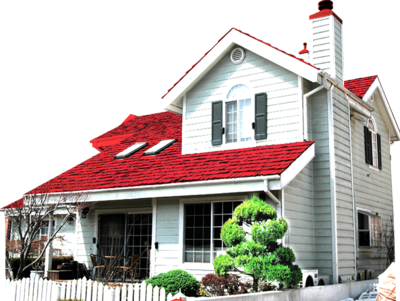 House with Red Roof PSD