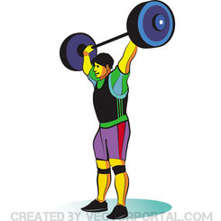 WEIGHT LIFTER FREE VECTOR.eps