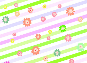 Fresh and lively flower vector background 4