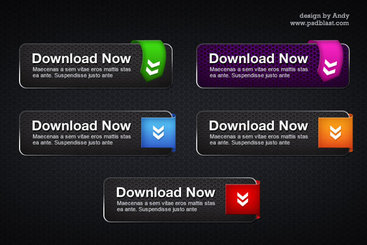 Spider man style cool Download Button