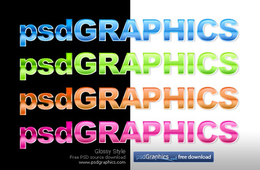 Glossy text photoshop style