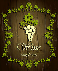 Creative Wine wood grain background