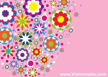 Abstract Colorful Floral Design