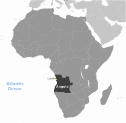 Angola location labeled