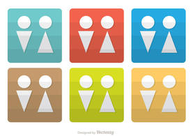 Minimal Rest Room Icons Vector Pack