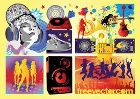 Free Music Party Vectors
