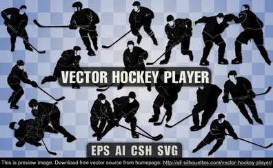 14 Vector hockey player