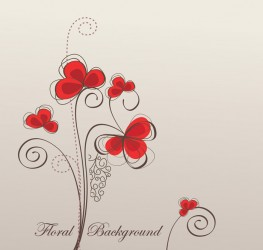 Free Vector Retro Floral Background