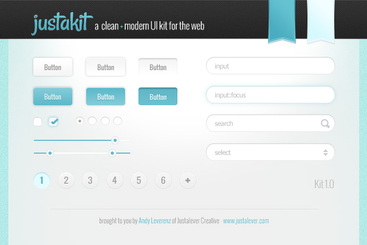 Justakit A Clean & Modern Free UI Kit