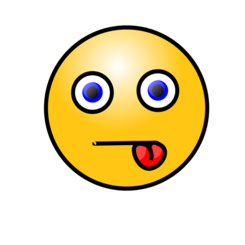 Emoticons: Tongue in cheek
