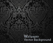 Seamless Wallpaper Pattern Black