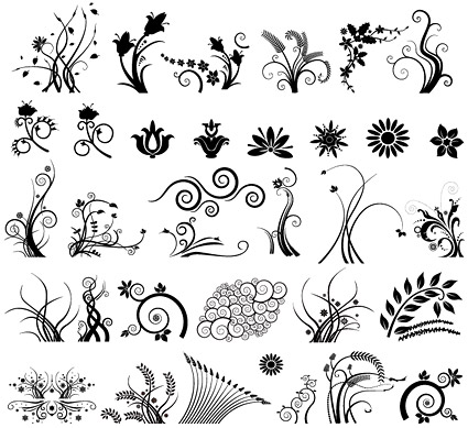 Several functional black and white pattern