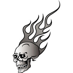 SKULL IN FLAMES FREE VECTOR.eps